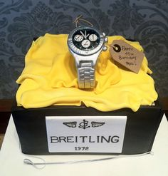 Ahhhhhhhh! Some day, this will be my husband's birthday cake!! Dan seriously wants one of these watches that costs a small house