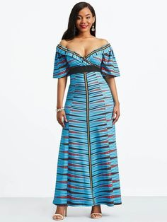 Ericdress offering cheap maxi dresses is worth your visit. Good quality maxi dresses for women on sale here, such as white floral long maxi dresses with sleeves. Maxi skirts are also good. Tb Dress, Maxi Dress With Sleeves, Half Sleeves, Cheap Maxi Dresses, 54 Kg, African Attire, African Wear, Colorblock Dress, African Fashion