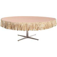 Natural Raffia Mini Table Skirt