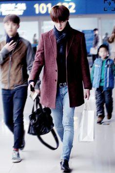 140117- EXO Oh Sehun; Beijing Airport to Incheon Airport #exok #fashion #style #kpop