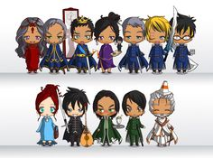UNIVERSEB - Some SA mini figures created by the Chibi Maker: ... Stormlight Archive