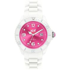 Ice-Watch Women's Ice-White SI.WP.U.S.11 White Silicone Quartz Watch with Pink Dial