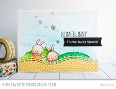 Somebunny, Somebunny Die-namics, Ewe Are the Best, Rolling Hills Die-namics, Tag Builder Blueprints 4 Die-namics, Wonky Stitched Rectangle STAX Die-namics - Amy Lee  #mftstamps