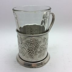This item is unavailable Glass Holders, Cup Holders, Vintage Coffee Cups, Bacchus, Faceted Glass, Antique Photos, Rare Antique, Grape Vines, Tea Cups