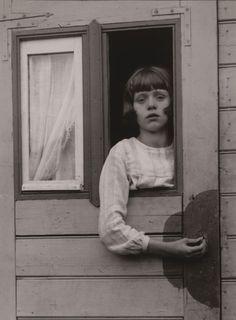 August Sander / Young Girl in Circus Caravan
