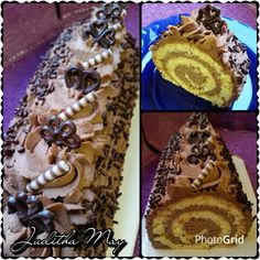 Roláda s mascarponovo - kaštatanovo - šlehačkovým krémem Swiss Cake, Cake Rolls, Muffin, Breakfast, Ethnic Recipes, Arms, Pineapple, Mascarpone, Mince Pies