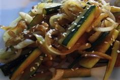 Japanese Zucchini and Onions:: I went and got brown rice and whipped these up to eat with it, they tasted like the ones at steakhouses, very yummy!  - Sarah J.