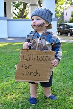 """""""Cute kid costume""""     Actually, NOT cute: offensive to homeless people."""