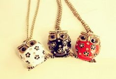 SALE Antiqued Night Owl Necklace by Especially2U on Etsy, $4.99
