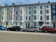 Houses on the seafront at Aberystwyth. Like an advert for a paint company! September 2014