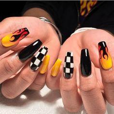 23 Great Yellow Nail Art Designs 2019 - Sunny Yellow Nails - Best Nail World Acrylic Nails Natural, Best Acrylic Nails, Summer Acrylic Nails, Acrylic Nail Designs, Summer Nails, Winter Nails, Painted Acrylic Nails, Colored Acrylic Nails, Coffin Nails Matte