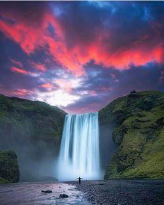 Skogafoss Waterfall, Iceland by @velhopekka