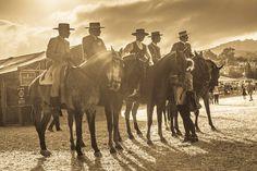 Spanish CowboysSpainHorsesequine artsepia by ANDREWLEVERGALLERY