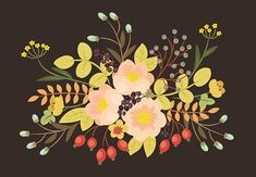 Flower painting inspiration How to Create a Vintage Floral Arrangement Painting in Adobe Illustrator - Tuts+ Design & Illustration Tutorial Web Design, Graphic Design Tutorials, Graphic Design Inspiration, Design Art, Floral Design, Font Design, Design Trends, Adobe Illustrator Tutorials, Photoshop Illustrator