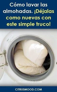 How to wash the pillows. Leave them as new with this simple trick! - Home Cleaning Tips Cleaning Recipes, House Cleaning Tips, Cleaning Hacks, Cleaning Grease, Power Clean, Cleaning Painted Walls, All Purpose Cleaners, Laundry Hacks, Household Cleaners