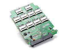 "10 x micro SD to SATA SSD Adapter & RAID Quad 2.5"" SATA Converter"