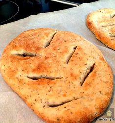 Garlic & Herb Flat Bread, Provençal Fougasse - Lovefoodies hanging out! Tease your taste buds!