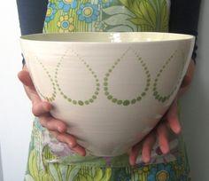 Bee bowl in Trim pattern Verity colorway. by jillrosenwald on Etsy, $200.00