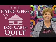 The Flying Geese Log Cabin Quilt: Easy Quilting Tutorial with Jenny Doan of Missouri Star Quilt Co - YouTube