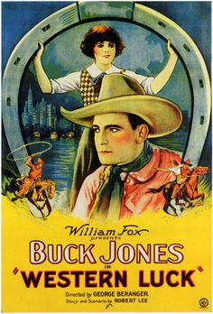 buck jones movie poster belgian | Buck Jones in Western Luck, 1929