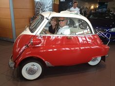 Greg & Lori for stopped in for service and couldn't resist the Isetta.