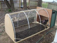 Chicken tractor - with small coop