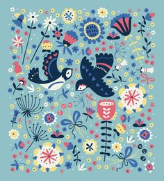 Summer Swallows (motif) | Paula McGloin via Behance
