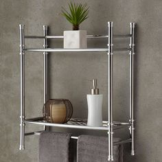 Wall Mount Countertop Shelf - Bathroom storage idea