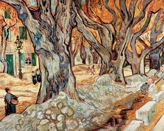 Vincent van Gogh's The Large Plane Trees (oil oncanvas, 29x36-1/4 inches)