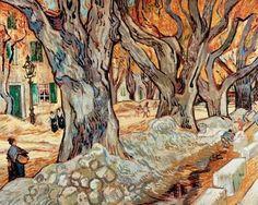 Vincent van Gogh's The Large Plane Trees (oil oncanvas, 29x36-1/4 inches)