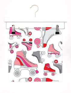 Vintage roller skates derby art illustrated pattern print. €10.00, via Etsy.  Photo Prompt Challenge. {30/365}