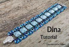 Tutorial Dina SuperDuo and Pyramid beads Beadwork by Lirigal