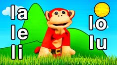 Sílabas la le li lo lu - El Mono Sílabo - Videos Infantiles - Educación ...