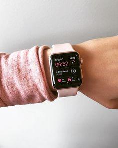 Sweat with kayla - abs session - on apple watch ✌ (swipe right on Apple Watch Iphone, Apple Watch 38mm, Rose Gold Apple Watch, Apple Watch Series 3, Apple Watch Bands, Apple Band, Kayla Itsines, Bbg, Mode Adidas