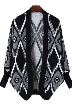 Cozy black + white patterned sweater