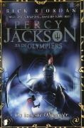 Dutch cover of Percy Jackson and the Olympians, book 5: The Last Olympian, by Rick Riordan.