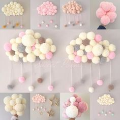 23 Clever DIY Christmas Decoration Ideas By Crafty Panda Baby Crafts, Diy And Crafts, Arts And Crafts, Pom Pom Crafts, Diy Pom Pom Rug, Baby Room Decor, Craft Projects, Tulle Projects, Handmade
