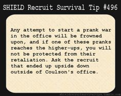 S.H.I.E.L.D Recruits Survival Tip #496
