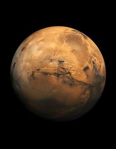 The Planet Mars - the Valles Marineris visible