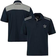 Dallas Cowboys Mens Alvin Navy Performance Synthetic Polo Shirt $49.95