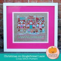Christmas On Gingerbread Lane~The Frosted Pumpkin Stitchery #FrostedPumpkinStitchery #Sampler