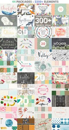 2350+ Graphic Design Elements by Julia Dreams on @creativemarket