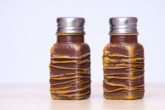 Salt & Pepper Shakers, Rustic Brown