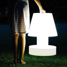 2 bloom portable lamp for the roof terrace!!!