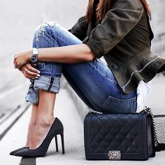 The perfect mid-week outfit inspiration always includes a Chanel bag. @fashionedchicstyling