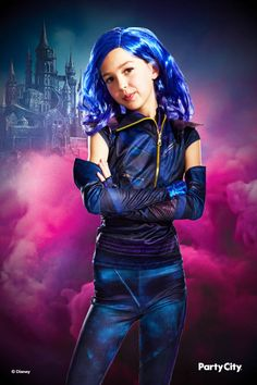 Become the leader of the Villain Kids with this Mal Costume for kids! Mal's look includes a biker-printed jacket with functional zippers, leggings printed with moto designs, and elbow-length fingerless gloves. Mal Halloween Costume, Dove Cameron Descendants, Disney Descendants 3, Dreamworks, Pixar, Moto Style, Edgy Look, Lol Dolls, The Villain