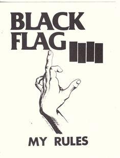 Black Flag My Rules Sticker