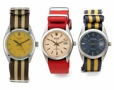 De-blinging watches with a preppie grosgrain band.