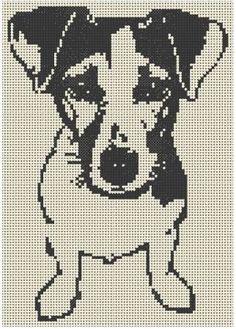 grilles jack russel et chats - xstitch - Filet Crochet Charts, Knitting Charts, Cross Stitch Charts, Cross Stitch Patterns, Cross Stitching, Cross Stitch Embroidery, Embroidery Patterns, Crochet Patterns, Dog Pattern