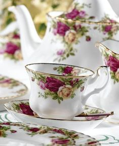 My china for those special occasions that sometimes we have to create in our lives! Royal Albert ~ Old Country Roses China
